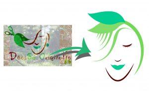 Refonte de logo, proposition pour déesse Originelle, coiffeuse à domicile à La Réunion