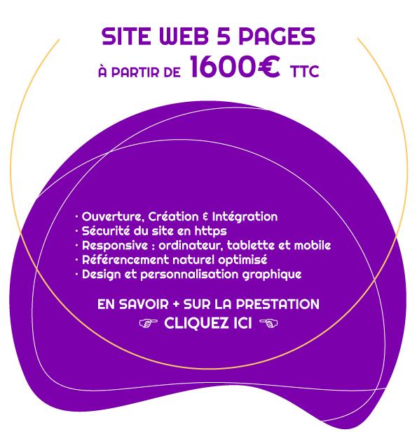 Tarif pour la création d'un site vitrine 5 pages
