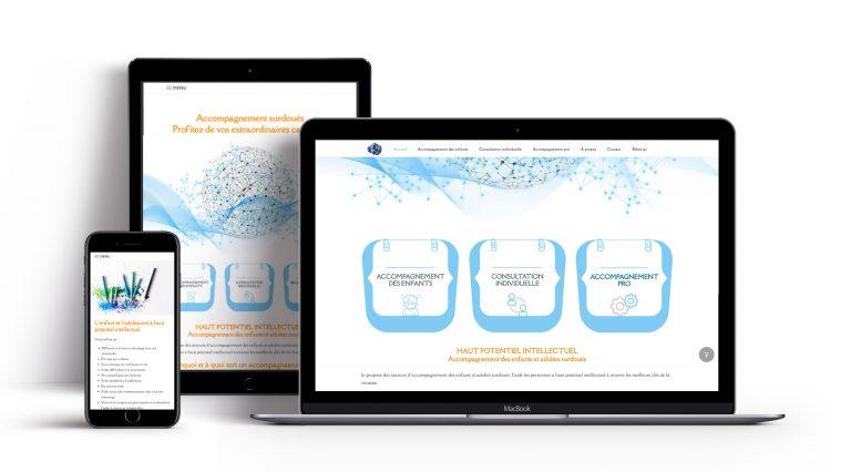 Refonte de site web · Nouveau design plus moderne pour le site de Bruno, accompagnement-surdoues.com