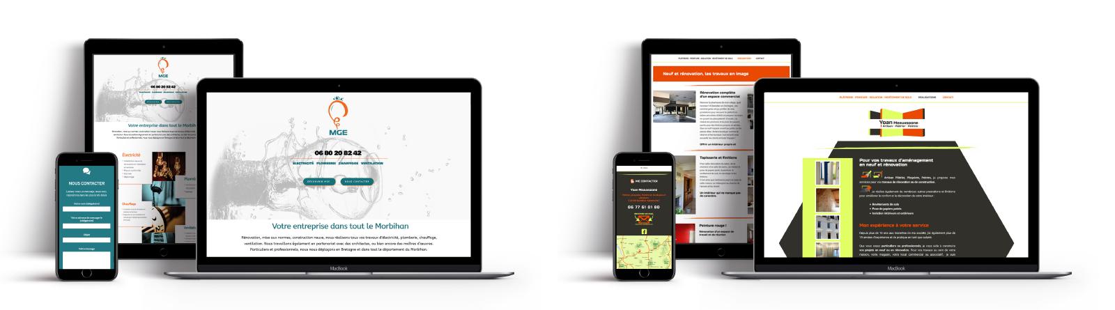 Sites web créés pour des artisans du bâtiment en France
