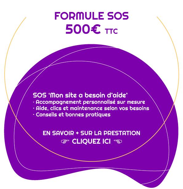 Formule SOS pour m'aider sur mon site web