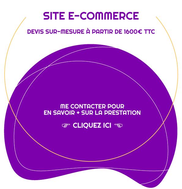 Devis sur demande pour la création d'un site e-commerce