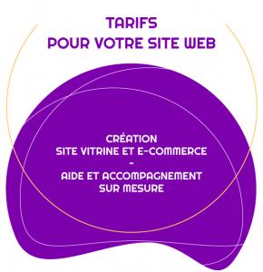 Découvrir les tarifs pour la création et la modification de votre site web vitrine ou e-commerce