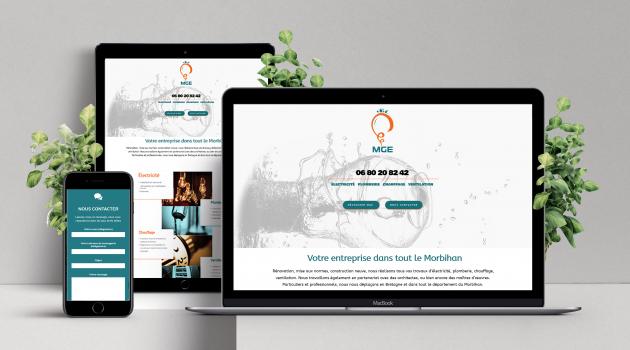 Site web vitrine sur mesure et à votre image, personnalisé selon votre charte graphique'